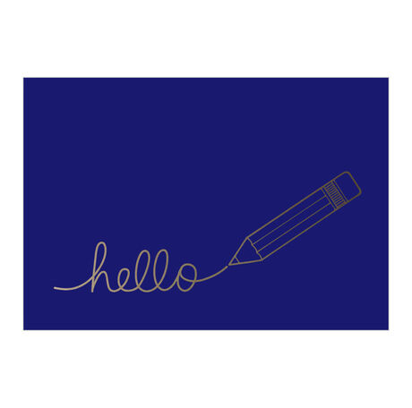 Silver Pencil Hello Business Hallmark Card