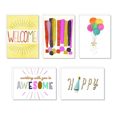 Assorted Welcome, Celebration and Birthday Cards 25 Pack