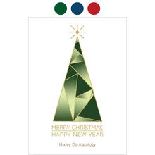 Christmas Tree and New Year Design Your Own Business Hallmark Card