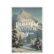 Holiday Card (Vintage Mountain Illustration) for Business