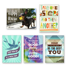 Assorted Healthy Living Cards for Business, 25 Pack