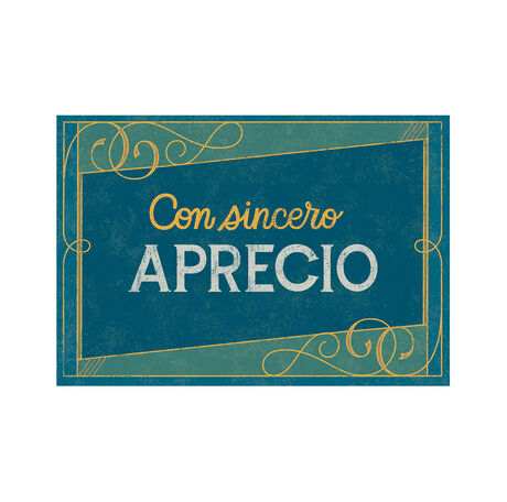 Sincere Appreciation Spanish Business Hallmark Card