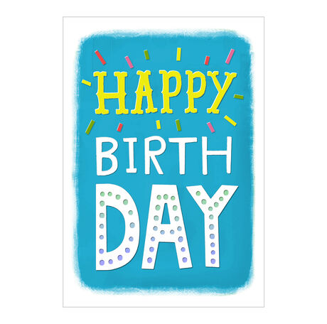 Birthday Card (Happy on Blue) for Business