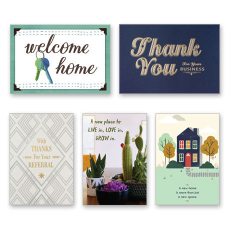 Assorted New Home and Referral Cards for Realtors, 25 Pack