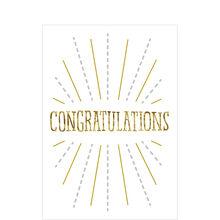 Golden on White Congratulations Card