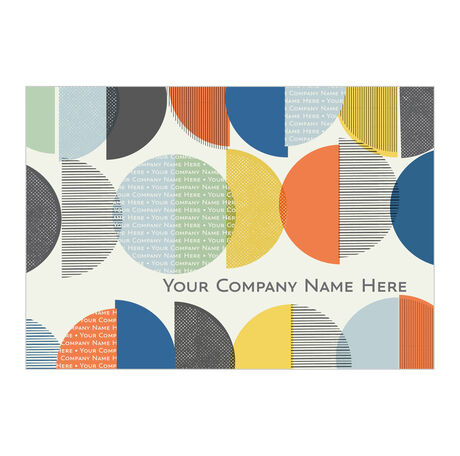 Personalized Circles and Cover Business Hallmark Card