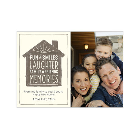 Fun, Smiles, Laughter New Home Business Hallmark Photo Card