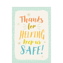 Safety Thank You Card (Helping Keep Us Safe) for Employees