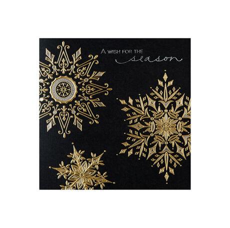 Golden Glow Snowflakes