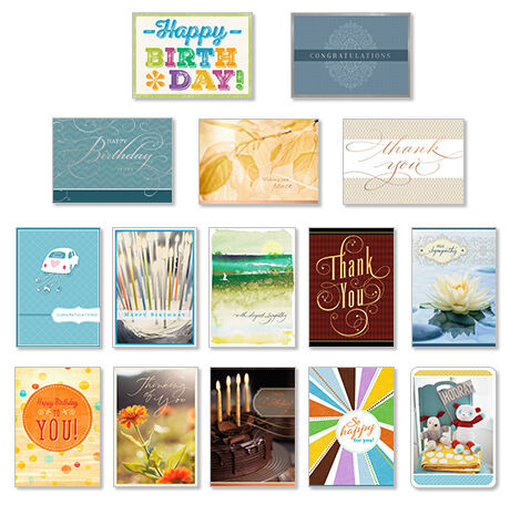 Seventy five assorted greeting cards hallmark business connections assorted cards for business all occasions 75 pack reheart Gallery