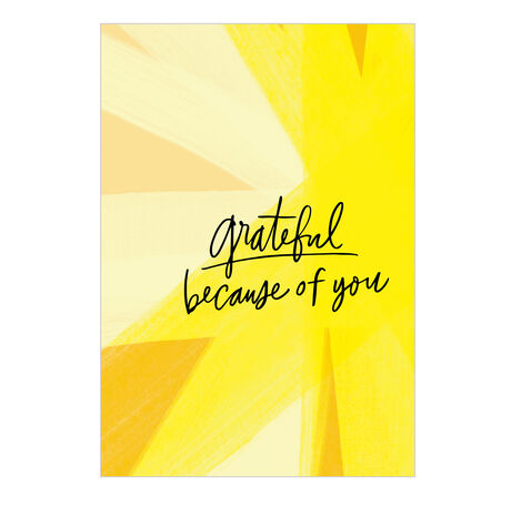 Thank You Card (Grateful, Bold Yellow) for Business