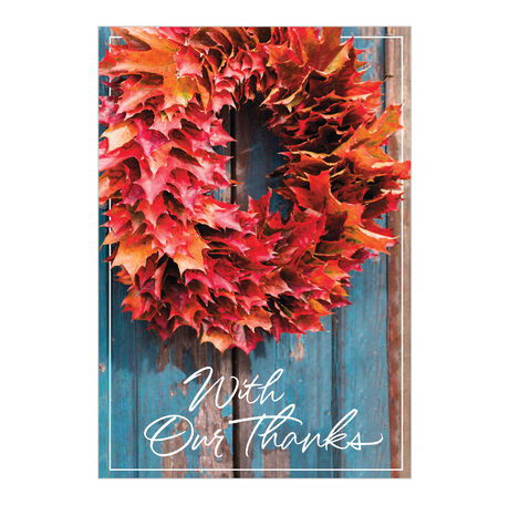 With Our Thanks Thanksgiving Card