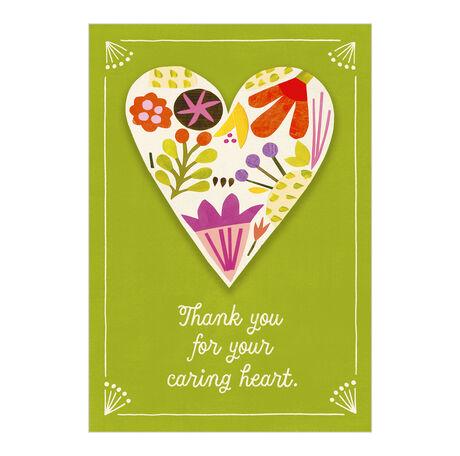 Healthcare Appreciation Card (Your Caring Heart) for Nurses, Staff & Caregivers