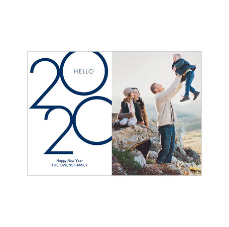 Hello 2020 Happy New Year Photo Card Hallmark