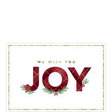 Plaid Joy Holiday Business Hallmark Card