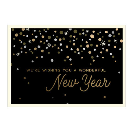 Happy New Year Card (From Us, Gold & Glamour) for Business