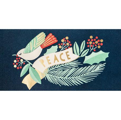 Peace Dove Holiday Business Hallmark Card