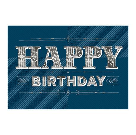 Birthday in Bold Silver