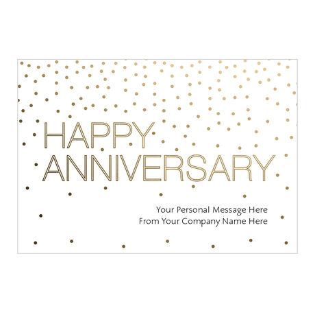 Gold Anniversary Custom Cover Business Hallmark Card