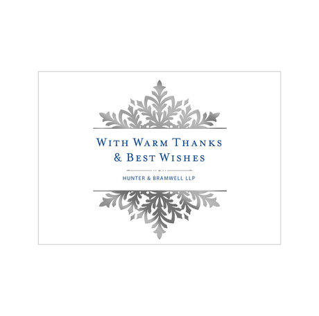 Customizable Holiday Appreciation Card (Ornate Snowflake) for Business