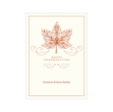 Thanksgiving Maple Leaf Design Your Own Business Hallmark Card