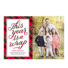 Wrapped in Plaid Business Holiday Photo Card