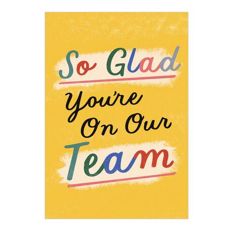 Bright Yellow Glad on Team Employee Appreciation Card