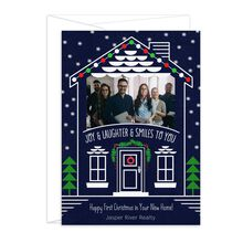 Photo Holiday Card (House, Joy & Laughter) for Business