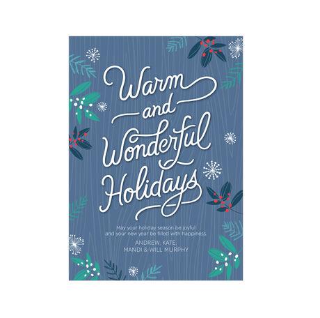 Warm, Wonderful Holidays Design Your Own Hallmark Card