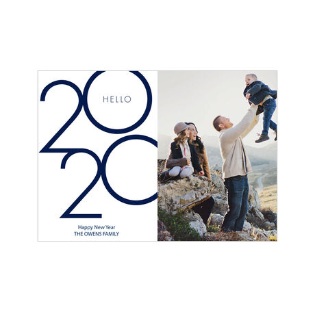Hello 2020 Happy New Year Business Photo Card