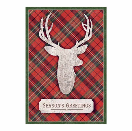 Plaid Reindeer Wishes