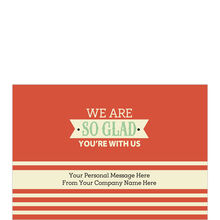 So Glad Welcome Personalized Cover Business Hallmark Card