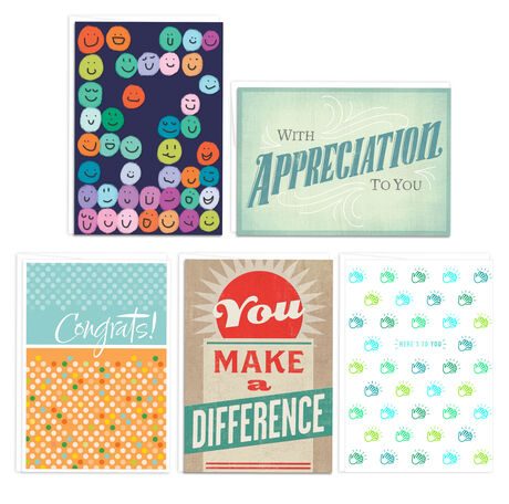 Assorted Employee Recognition Cards, 25 Pack