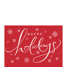 Happy Holidays Snowfall Business Hallmark Card