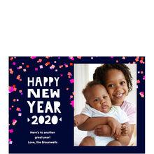 Happy New Year 2020 Confetti Hallmark Photo Card