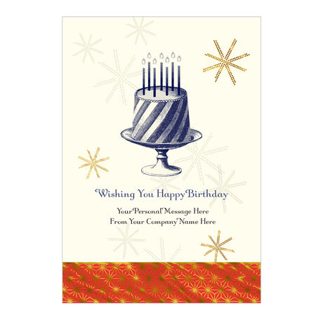 Birthday Cake Custom Cover Business Hallmark Card