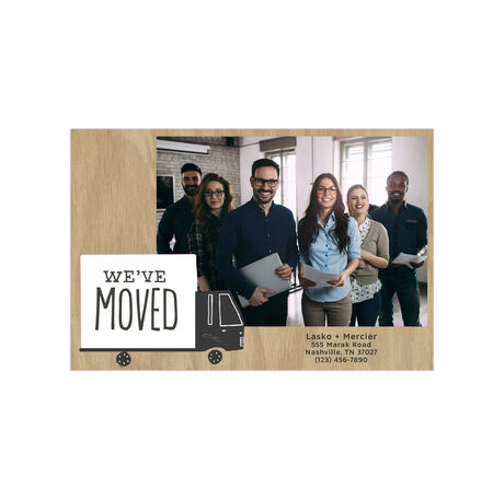 Moving Truck Office Relocation Announcement Hallmark Photo Postcard
