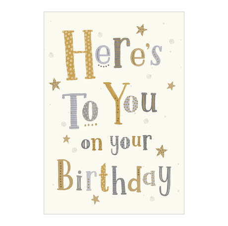 Birthday Card (Here's to You) for Business