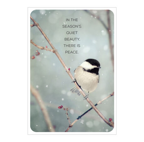 Beauty of Birds Holiday Business Hallmark Card