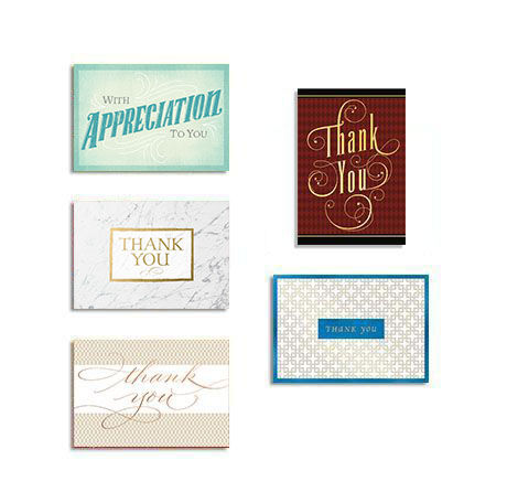 Assorted Thank You Cards for Business, 25 Pack