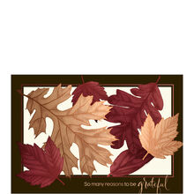 Premium Thanksgiving Card (Embossed Leaves Cutout) for Business