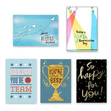 Assorted Above & Beyond Employee Recognition Cards, 25 Pack