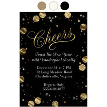 Cheers New Year Design Your Own Business Hallmark Invitation