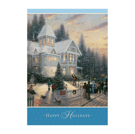 Thomas Kinkade Victorian Christmas Holiday Cards Hallmark