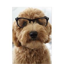 Dog in Glasses Business Hallmark Card