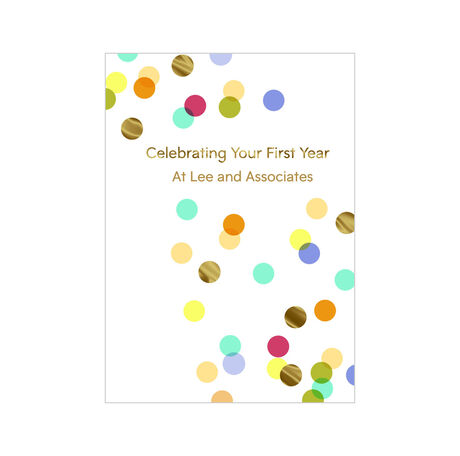 1st Work Anniversary Confetti Design Your Own Hallmark Card