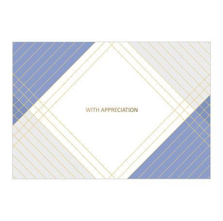 Blue, Gold and Gray Appreciation Business Hallmark Card