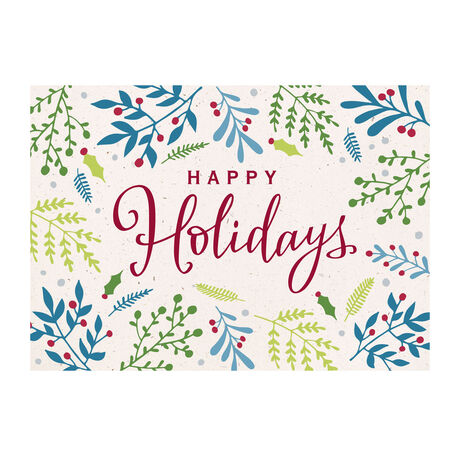 Berry Happy Holidays Business Hallmark Card