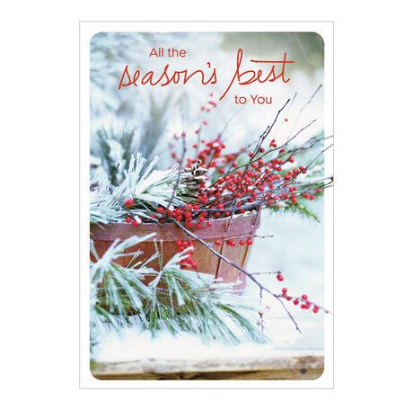Evergreen & Berries Season's Best Holiday Card