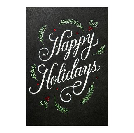 Scandinavian Happy Holidays Business Hallmark Card